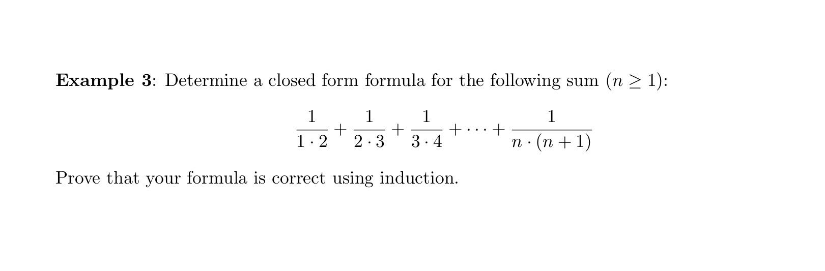 Determine A Closed Form Formula For The Following ... | Chegg.com