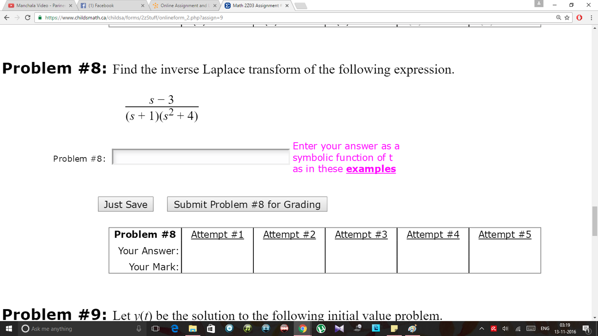 Solved X Online Assignment And L X Y E Math 2203 Assignme