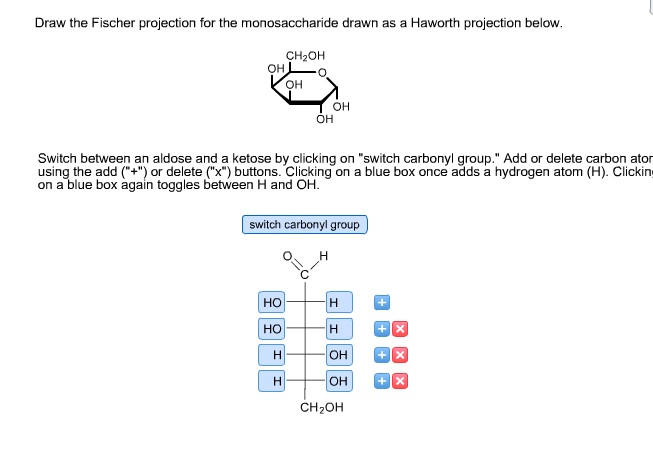 haworth projection Fischer projection formulas of the d-enantiomers of the common aldotriose,   more realistic drawings of the cyclic forms were introduced by haworth in the.