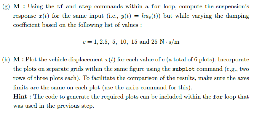 M : Using the tf and step commands within a for lo