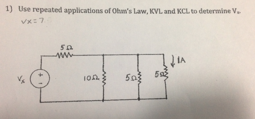 Use repeated applications of Ohm's Law, KVL and KC