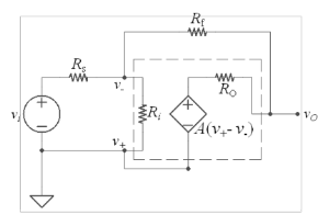 An operational amplifier is a device built from se