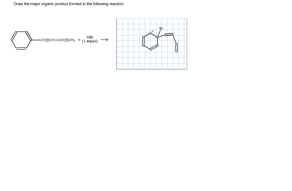 Draw The Structure Of Major Organic Product Chegg Com