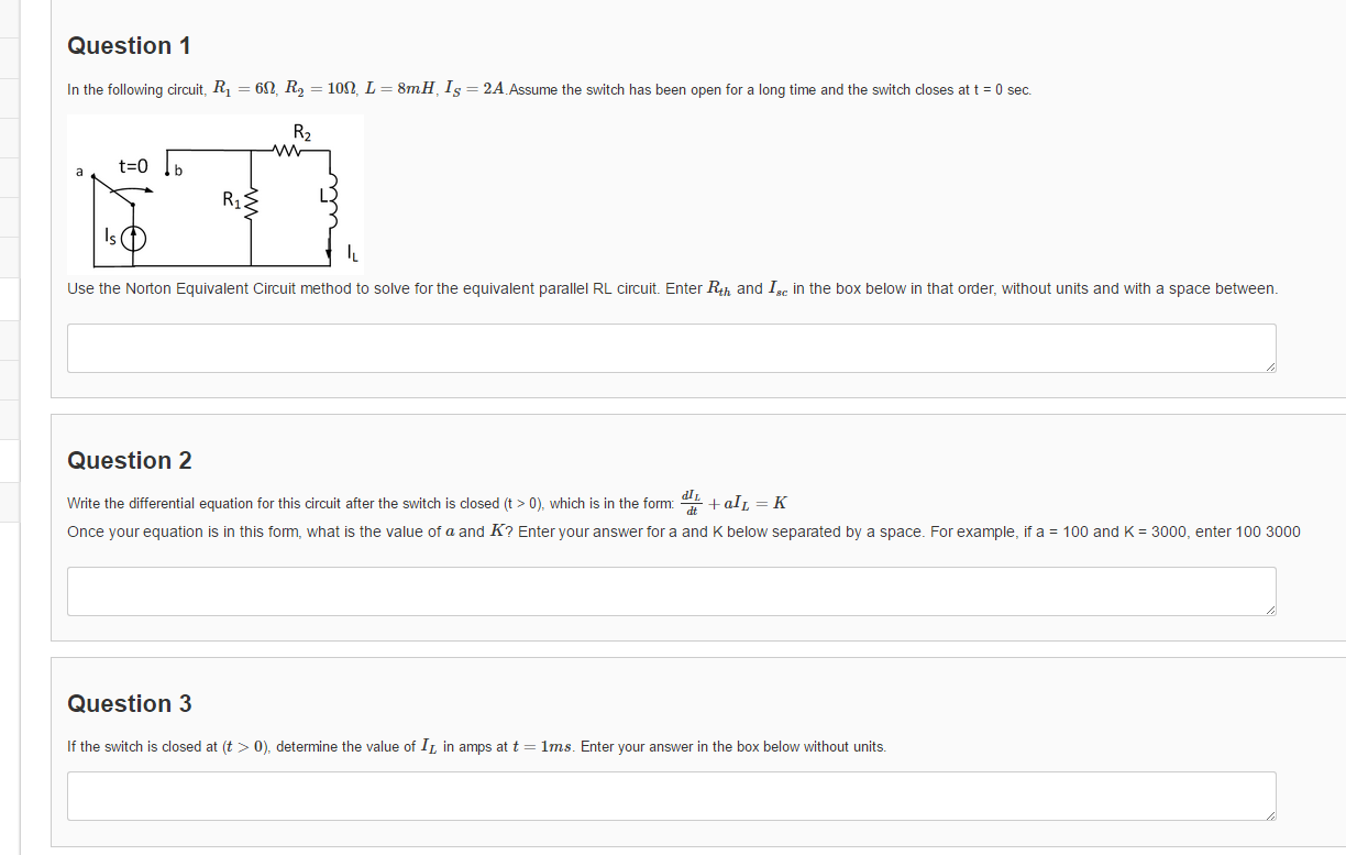 Question 1 In The Following Circuit, R1 = 6 Ohm, R... | Chegg.com