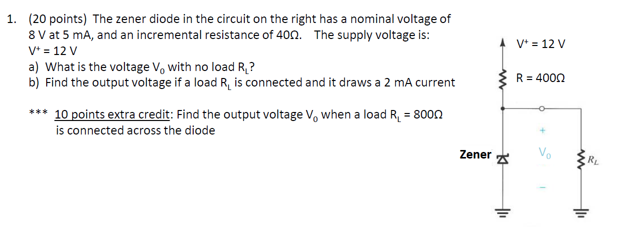 The zener diode in the circuit on the right has a