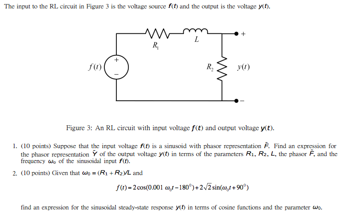 The input to the RL circuit in Figure 3 is the vol