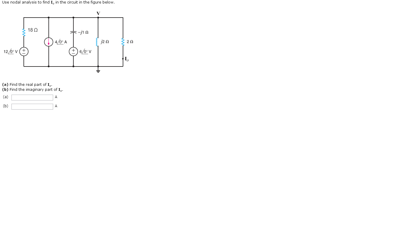 Use nodal analysis to find Io in the circuit in th
