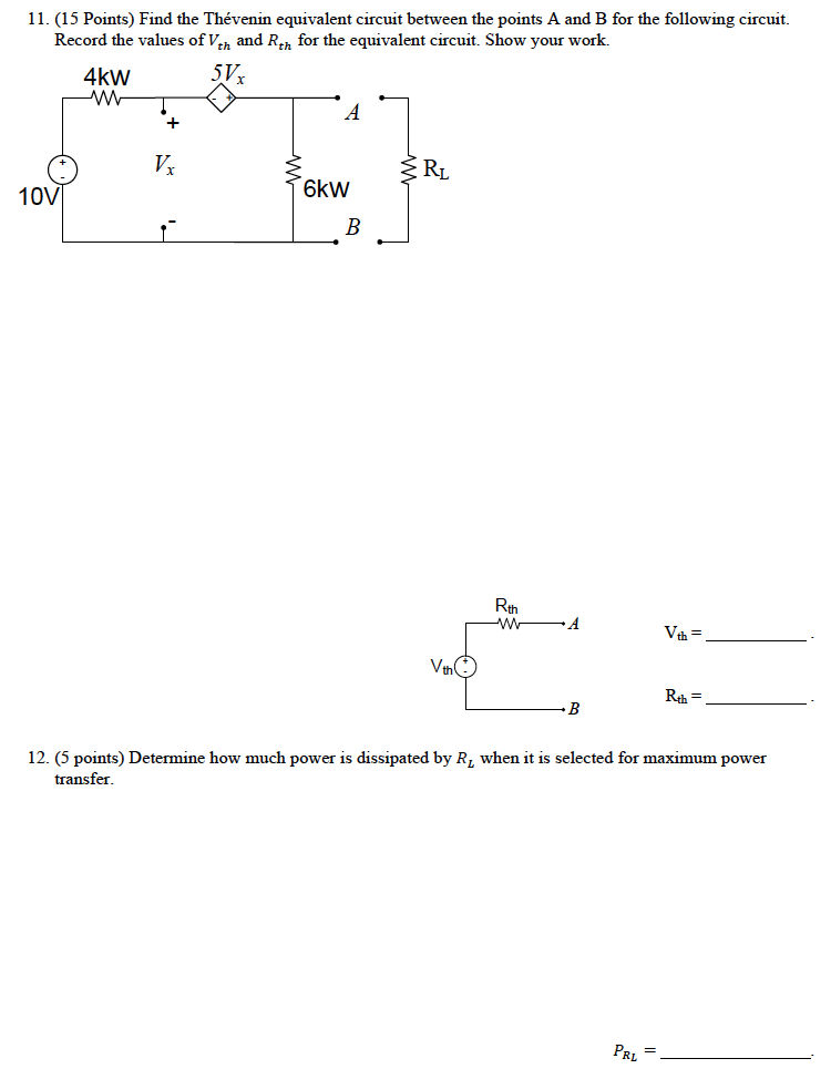 Find the Thevenin equivalent circuit between the p