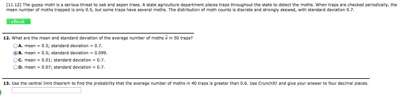 Homework help central limit theorem