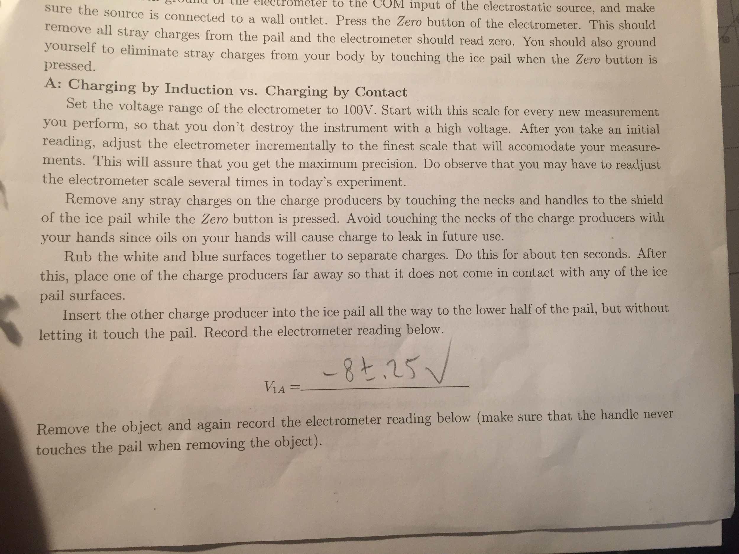 i need physics help regarding electrometers and el com question i need physics help regarding electrometers and el