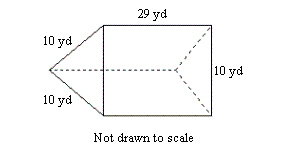 Find the volume of the given prism. round to the n