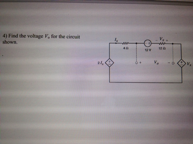 Find the voltage Vo for the circuit shown.