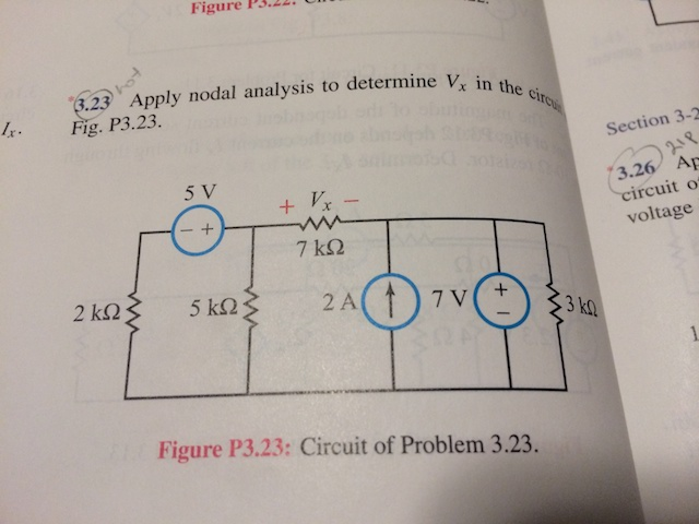 Apply mesh analysis to determine I, in the circuit