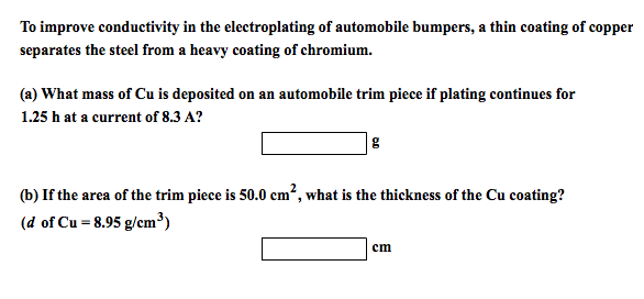To improve conductivity in the electroplating of a