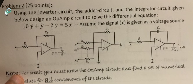 Summing Amplifier or Op Amp Adder Circuit Diagram