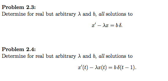 Solve this differential equations without using La