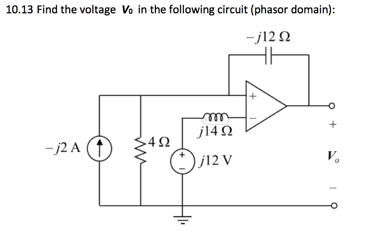 Find the voltage Vo in the following circuit (phas