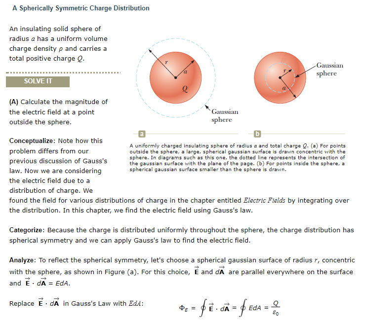 A spherically symmetric charge distribution an ins chegg a spherically symmetric charge distribution an insulating solid sphere of radius a has a uniform volume ccuart Image collections