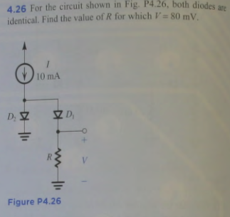 26 For the circuit shown in Fig P4.26, both diodes