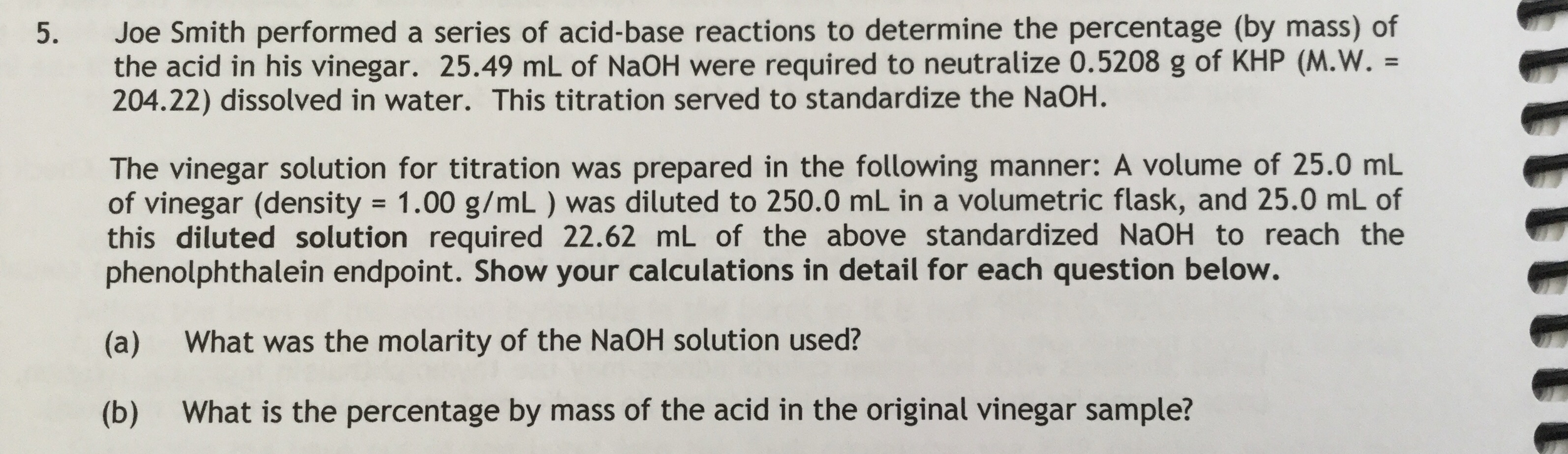 Joe Smith Performed A Series Of Acidbase Reaction