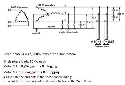 electrical engineering archive | august 29, 2013 | chegg.com 208 single phase distribution wiring diagram single phase compressor wiring diagram 208 230