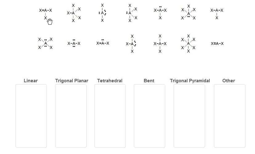 Lewis Structures Shapes Classify Each Lewis Structure