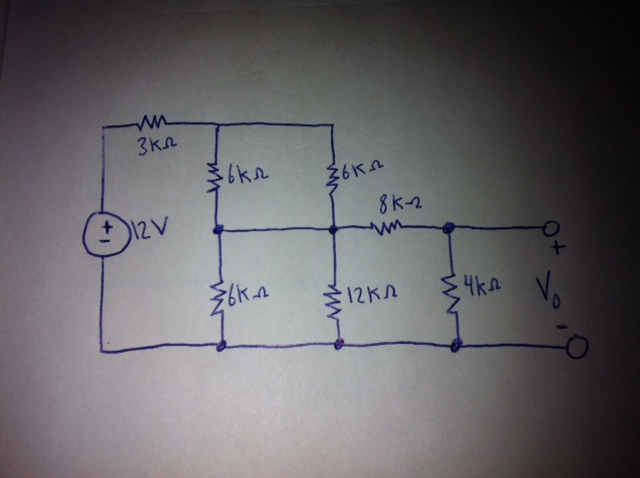 Determine \(V_0\) in the circuit.