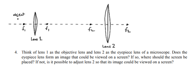 Solved 1 the diagram provided below shows an arrangement 1 the diagram provided below shows an arrangement of a small object and two thin convex lenses analogous to that used in a typical compound microscope ccuart Images