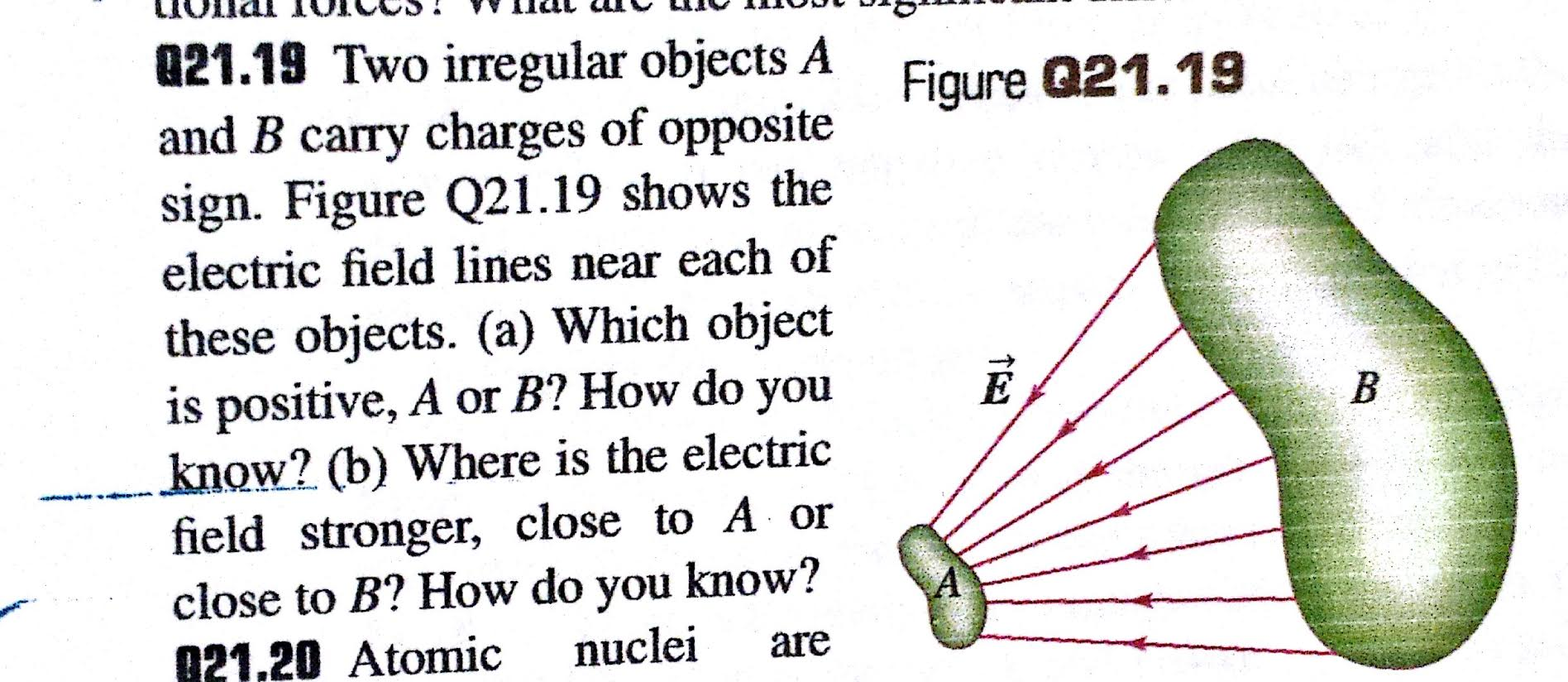 Worksheet Opposite Objects q21 19 two irregular objects a and b carry charges chegg com image for of opposite sign