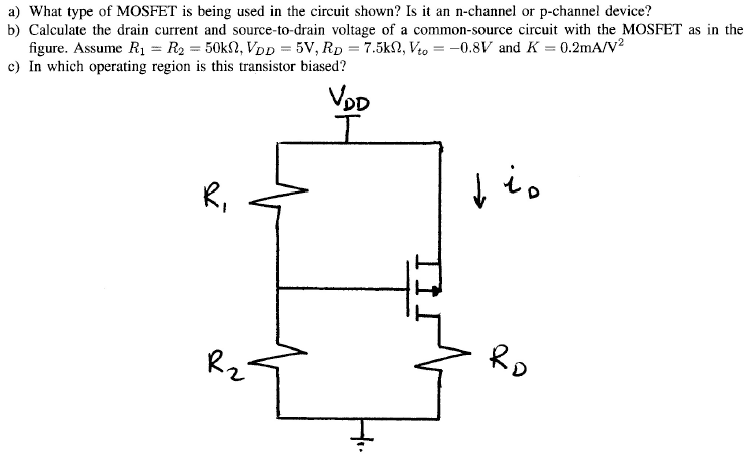What type of MOSFET is being used in the circuit s