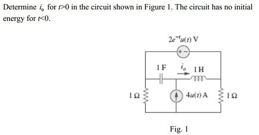 Determine i0 for t Greater than 0 in the circuit s