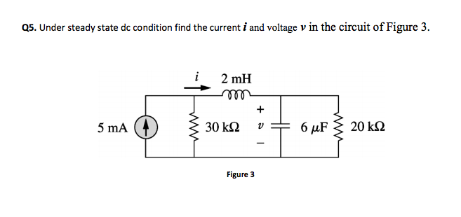 The voltage across a 2-H inductor is 20(1-e-2t) V.