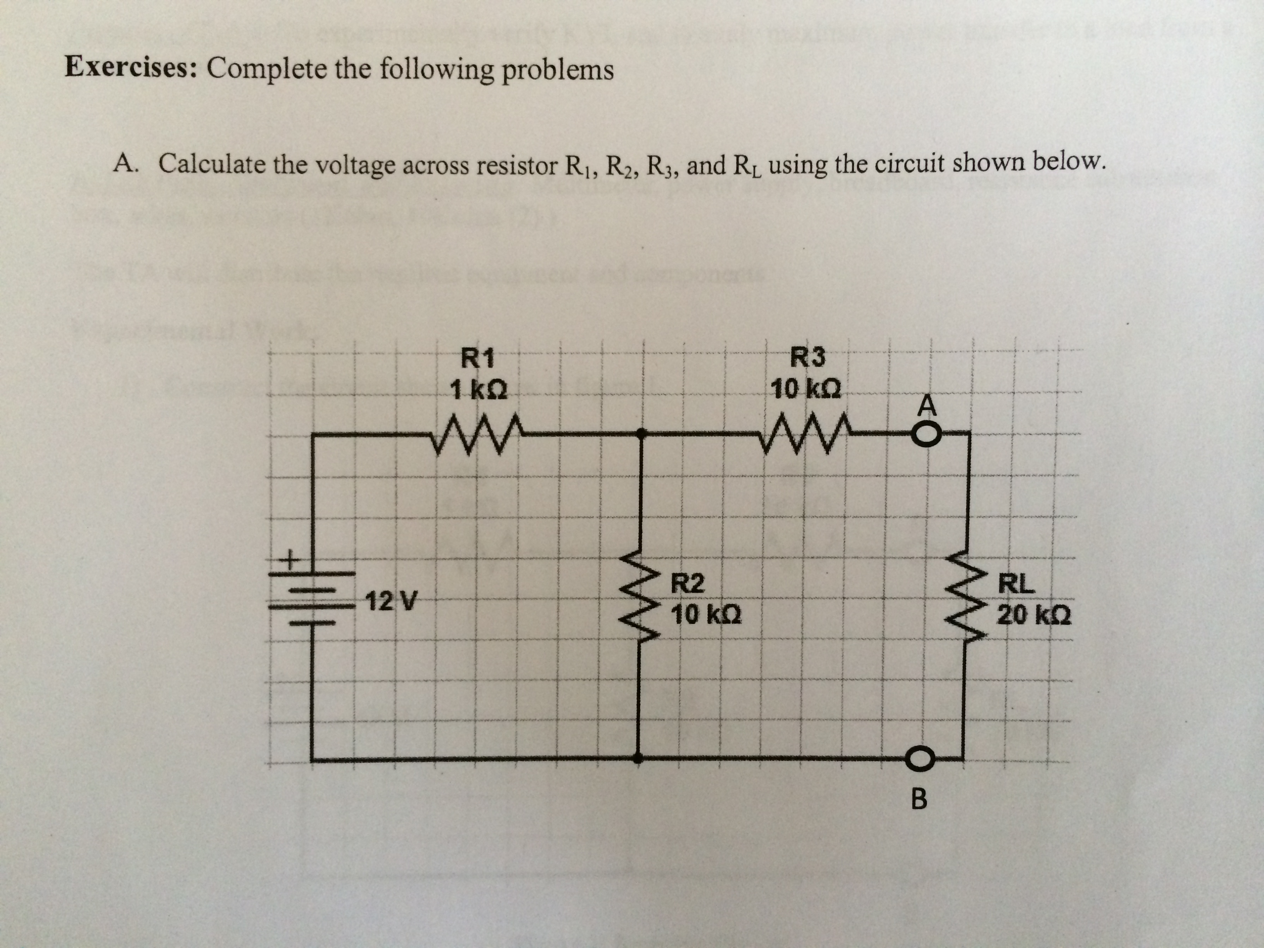 Complete the following problems Calculate the vol