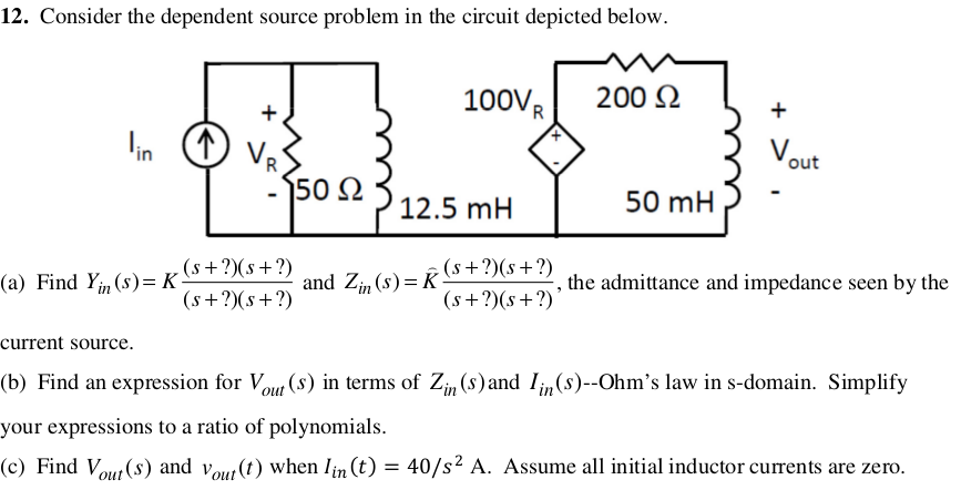 Consider the dependent source problem in the circu
