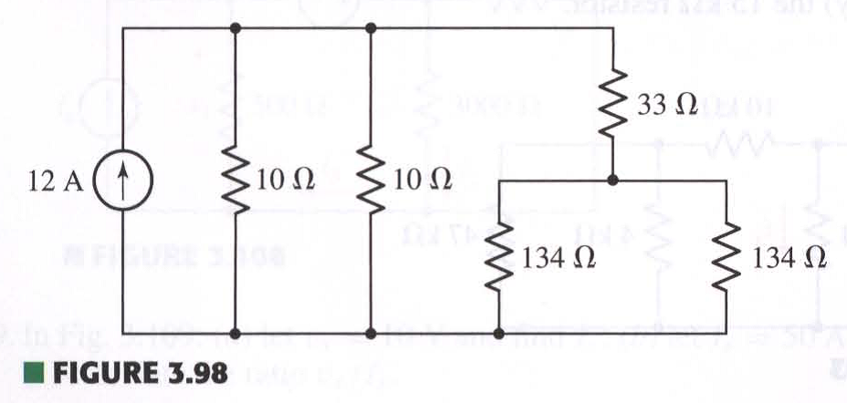 Referring to the circuit depicted in Fig. 3.98, us