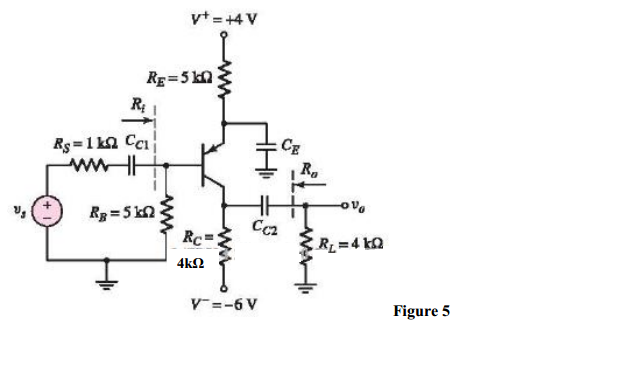 The transistor in the circuit in Figure 5 has para