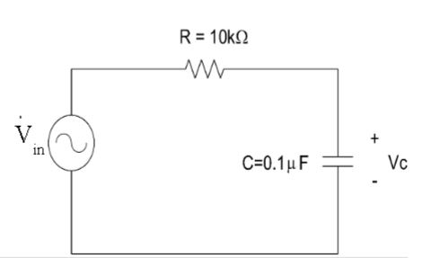Calculate impedance of RC circuit below Calculate