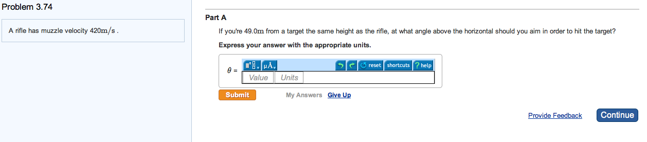 A rifle has muzzle velocity 420m/s . If you're 49