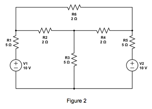 For the circuit shown in Figure 1, find the curren