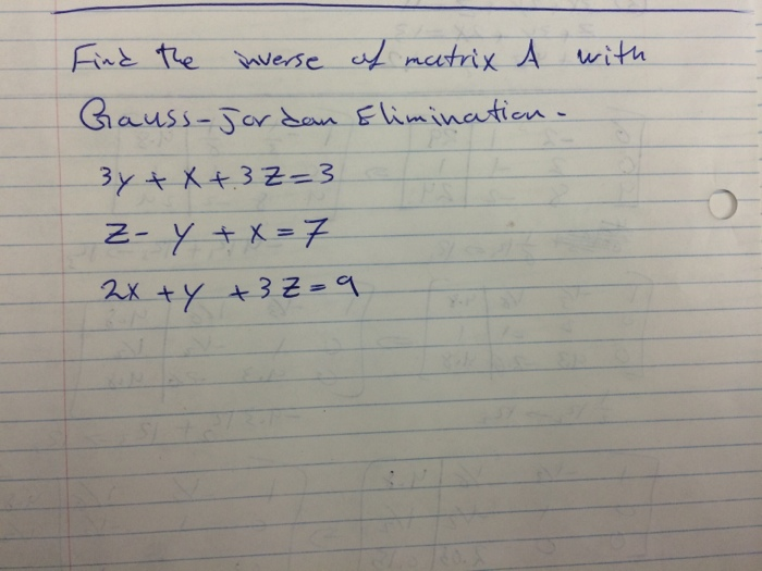 gaussian elimination questions and answers pdf