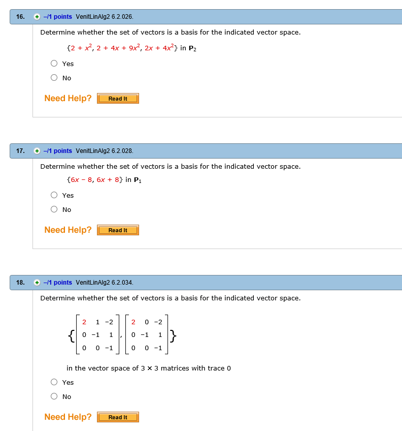 Polynomials in vector space  Physics Forums
