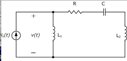 In the network in the figure with R = 4ohm, L1 =