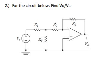 For the circuit below, Find Vo/Vs.