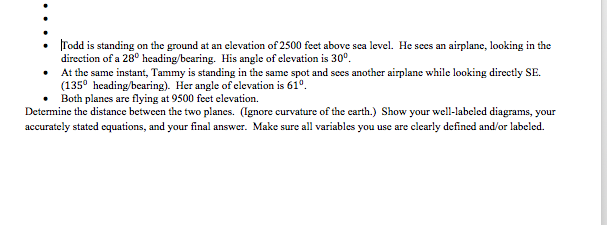 Todd Is Standing On The Ground At An Elevation Of Cheggcom - Elevation in feet above sea level
