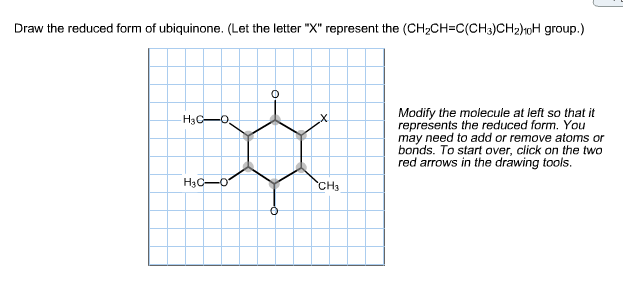 Draw The Reduced Form Of Ubiquinone. (Let The Lett... | Chegg.com