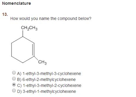 Nomenclature How would you name the compound belo