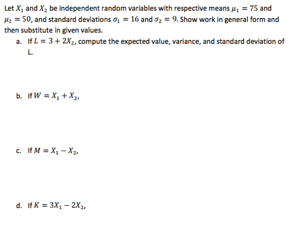 Solved let x1 and x2 be independent random variables wi let x1 and x2 be independent random variables wi falaconquin