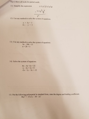 Solved Simplify The Expression Use Any Method To Solve Th