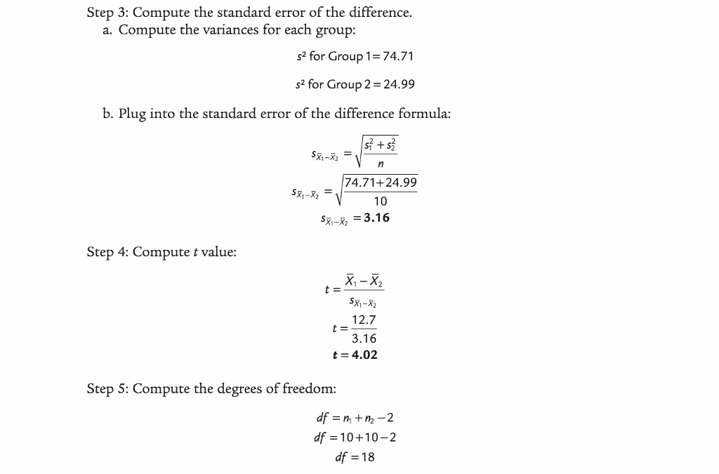 Solved 1 Do The Example Data Meet The Assumptions For Th