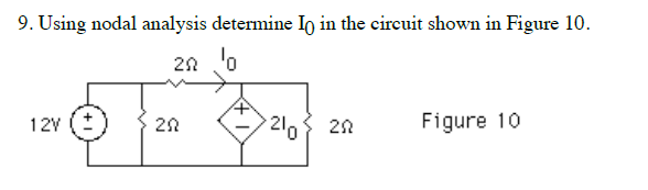 Using nodal analysis determine I0 in the circuit s